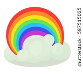 rainbow icon. cartoon... | Shutterstock .eps vector #587515025