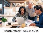 team of office colleagues... | Shutterstock . vector #587516945