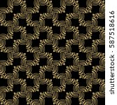 seamless geometric line pattern.... | Shutterstock . vector #587518616