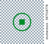 pause button vector icon.... | Shutterstock .eps vector #587518778