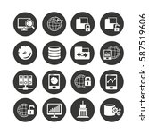 network icon set in circle... | Shutterstock .eps vector #587519606