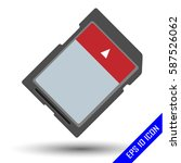 memory card icon. memory card... | Shutterstock .eps vector #587526062