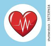 pulse heartbeat  sport symbol | Shutterstock .eps vector #587539616