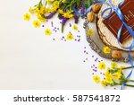 pesah celebration concept ... | Shutterstock . vector #587541872