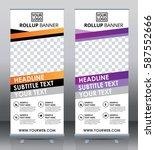 roll up brochure flyer banner... | Shutterstock .eps vector #587552666