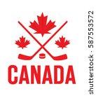 vector canadian hockey graphic | Shutterstock .eps vector #587553572