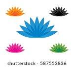 lotus flower  | Shutterstock .eps vector #587553836