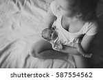 portrait of mother and her...   Shutterstock . vector #587554562