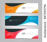 vector design banner background. | Shutterstock .eps vector #587554796