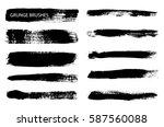 set of grunge brushes.vector... | Shutterstock .eps vector #587560088