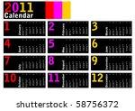 vector illustration  2011... | Shutterstock .eps vector #58756372