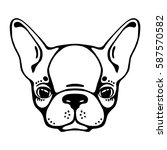 french bulldog head isolated ... | Shutterstock .eps vector #587570582