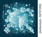 fintech investment financial... | Shutterstock .eps vector #587571902
