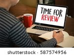 review time business concept  ... | Shutterstock . vector #587574956