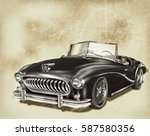 vintage car | Shutterstock . vector #587580356