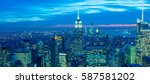 view of new york manhattan... | Shutterstock . vector #587581202