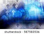 computer technology network... | Shutterstock . vector #587583536