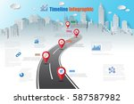 design template  road map... | Shutterstock .eps vector #587587982
