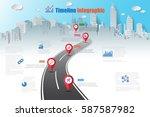 design template  road map... | Shutterstock .eps vector #587587982