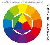 vector color spectrum with... | Shutterstock .eps vector #587593016