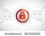 protection concept. security... | Shutterstock .eps vector #587600582