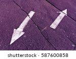 Two arrows on purple toned...