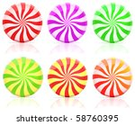 striped candy.  lollipop set... | Shutterstock .eps vector #58760395