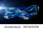 blue science fiction style... | Shutterstock . vector #587605358