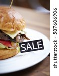 Hamburger With Sale Tag