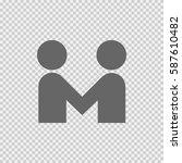 partnership vector icon. hands... | Shutterstock .eps vector #587610482