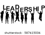 leadership concept with people... | Shutterstock .eps vector #587615036