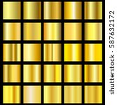 vector set of gold gradients.... | Shutterstock .eps vector #587632172