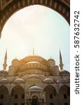 the blue mosque   sultanahmet... | Shutterstock . vector #587632742