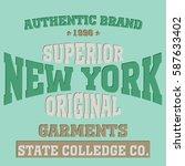 new york brooklyn typography... | Shutterstock . vector #587633402
