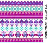 ethnic seamless pattern with... | Shutterstock .eps vector #587635166