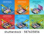 developing mobile applications... | Shutterstock .eps vector #587635856