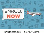 "airplane with banner ""enroll... 
