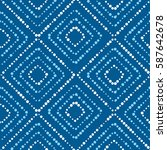 rhombus plaid concept seamless... | Shutterstock .eps vector #587642678
