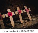 Poppy On Wooden Cross...