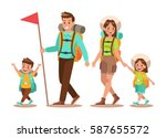 family lifestyle. family travel ... | Shutterstock .eps vector #587655572