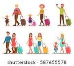 family lifestyle. family travel ... | Shutterstock .eps vector #587655578