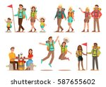 family lifestyle. family travel ... | Shutterstock .eps vector #587655602