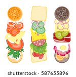 ingredients for burgers and... | Shutterstock . vector #587655896