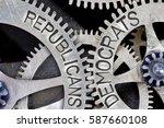 macro photo of tooth wheel... | Shutterstock . vector #587660108