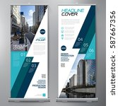 business roll up. standee... | Shutterstock .eps vector #587667356