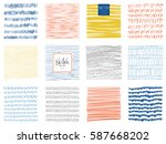 set of abstract square... | Shutterstock .eps vector #587668202