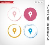 geo icon. button with geo icon. ... | Shutterstock .eps vector #587668742