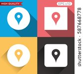 geo icon. button with geo icon. ... | Shutterstock .eps vector #587668778