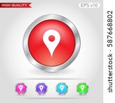 geo icon. button with geo icon. ...