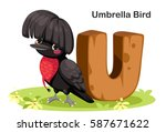 wooden textured bold font... | Shutterstock .eps vector #587671622